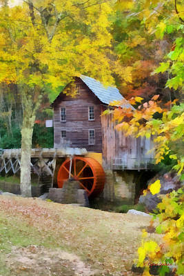 Grist Mill Painting - Grist Mill by Lynne Jenkins