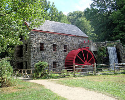 Photograph - Grist Mill  Massachusetts by Patricia Urato
