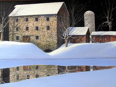 Painting - Grist Mill by Milan Melicharek