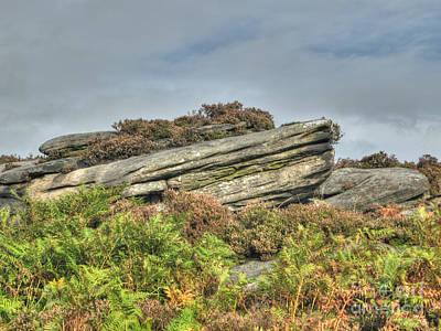Gritstone Outcrop - Colour Art Print by Steev Stamford