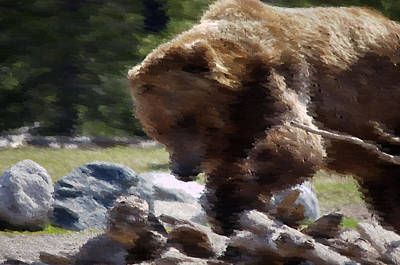 Grizz Dinner Art Print by Kevin Bone