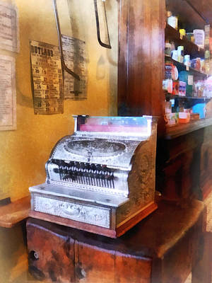 Cans Photograph - Grocery Store Cash Register by Susan Savad