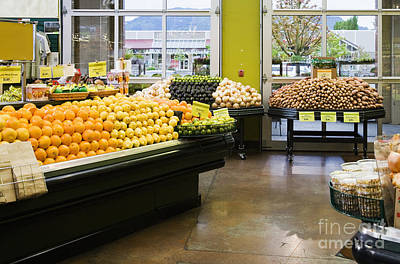 Grocery Store Produce Section Art Print