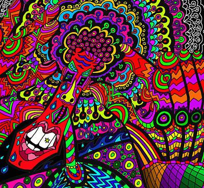 Sore Digital Art - Groovey Mate by Karen Elzinga