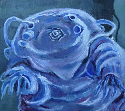 Art Print featuring the painting Ground Control To Major Tardigrade by Jessmyne Stephenson