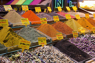 Y120831 Photograph - Ground Spices For Sale by Henglein and Steets