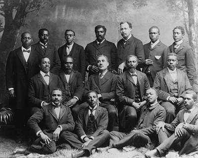 Jim Crow South Photograph - Group Portrait Of The Ministers Class by Everett