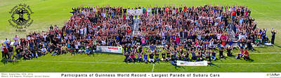 Subaru Parade Photograph - Group Shot by PhotoChasers