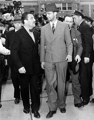 Whalen Photograph - Grover Whalen Takes Howard Hughes by Everett