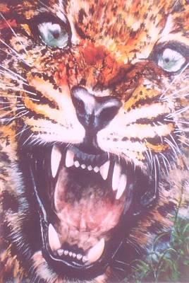 Growling Leopard Original by Cecilia Putter