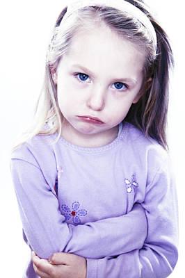 Grumpy Girl Art Print by Kevin Curtis