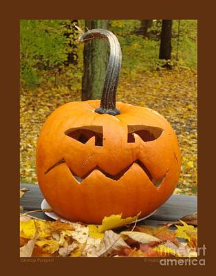 Art Print featuring the photograph Grumpy Pumpkin by Patricia Overmoyer
