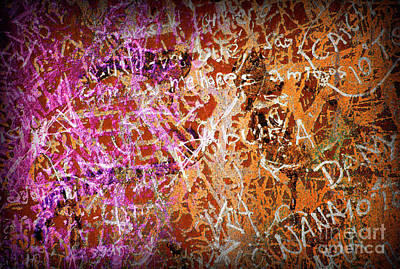 Vandalize Photograph - Grunge Background 3 by Carlos Caetano
