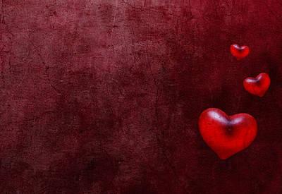 Grunge Hearts Art Print by Laura Melis
