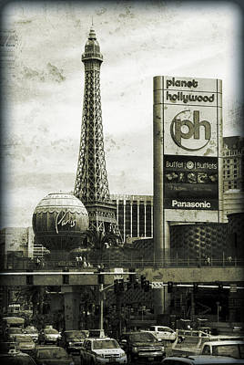 Paris Skyline Royalty-Free and Rights-Managed Images - Grungy Vegas by Ricky Barnard