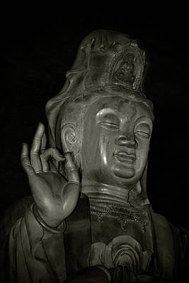 Guan Yin Bodhisattva - Goddess Of Compassion Art Print by Christine Till