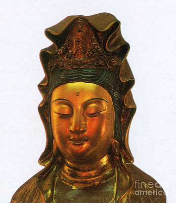 Guanyin, Chinese Goddess Of Mercy Art Print by Photo Researchers