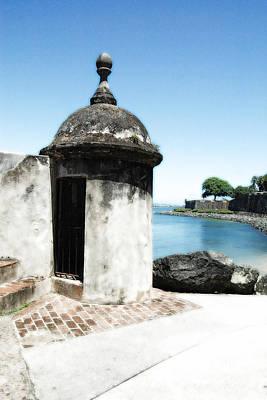 Puerto Rico Digital Art - Guard Post Castillo San Felipe Del Morro San Juan Puerto Rico Diffuse Glow by Shawn O'Brien