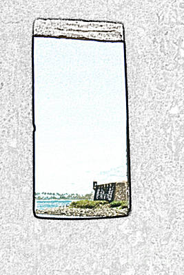Guard Tower View Castillo San Felipe Del Morro San Juan Puerto Rico Colored Pencil Art Print by Shawn O'Brien
