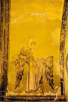 Guardian Angel Byzantine Art Art Print by Artur Bogacki