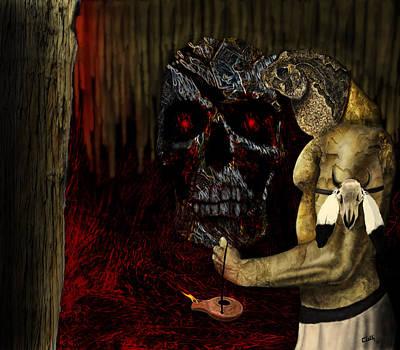Digital Art - Guardian Of The Underworld  by Wade Clark