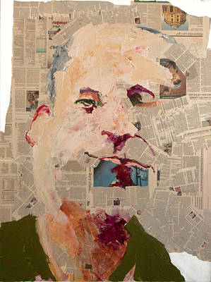 Stein Mixed Media - Guardian Self-portrait by Geoff Stein