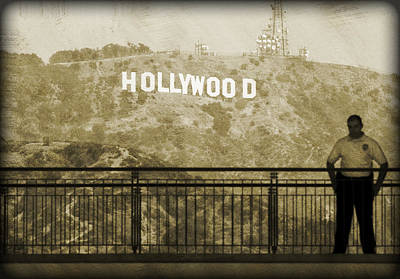 Guarding Hollywood Art Print by Ricky Barnard