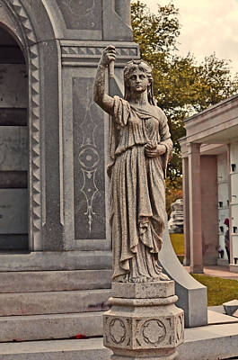 Statue Photograph - Guarding The Tomb by Terry Sita