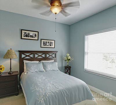 Guest Bedroom Art Print by Skip Nall