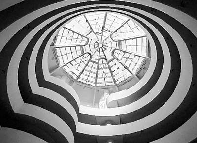 Guggenheim Museum Bw200 Art Print by Scott Kelley