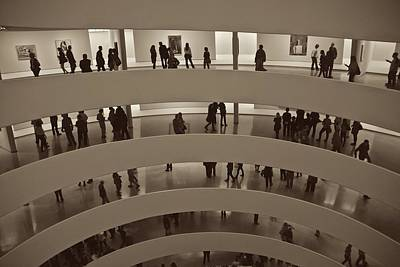 Photograph - Guggenheim Visitors by Eric Tressler