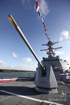 Guided-missile Destroyer Uss Jason Art Print by Stocktrek Images
