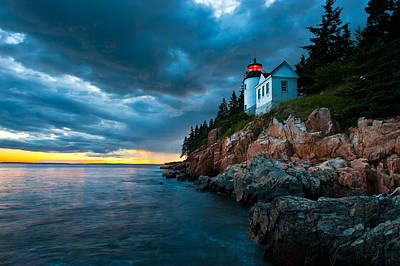 Photograph - Guiding Light Of Acadia by Bernard Chen