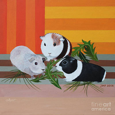 Cavy Painting - Guinea Pigs by Jutta Maria Pusl