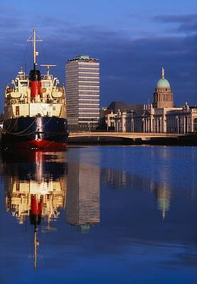 Guinness Boat, Custom House, Liberty Art Print by The Irish Image Collection