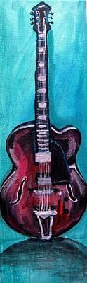 Guitar 2 Art Print by Amanda Dinan