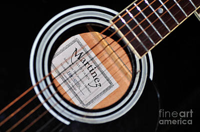 Photograph - Guitar Abstract 1 by Kaye Menner