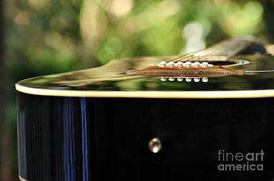 Photograph - Guitar Abstract 3 by Kaye Menner