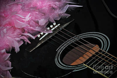 Photograph - Guitar Abstract 8 - The End Of The Show by Kaye Menner