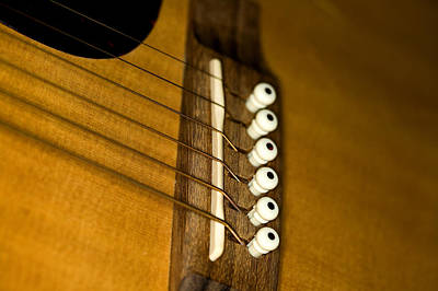 Photograph - Guitar Bridge by C Ribet