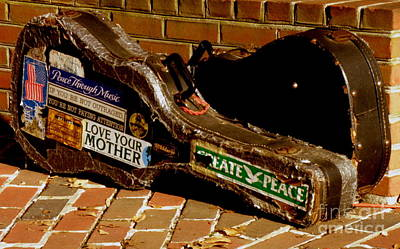 Guitar Case Messages Art Print by Lainie Wrightson
