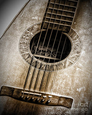 Guitar Art Print by Danuta Bennett