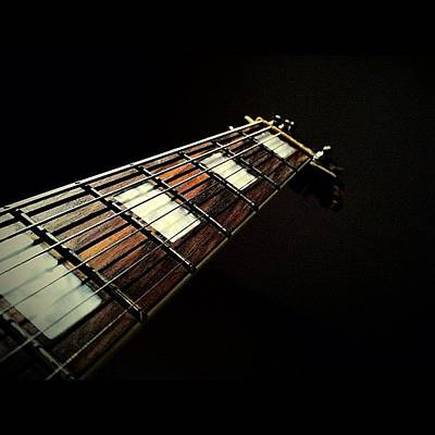 Musical Instruments Photograph - #guitar #guitarism #guitarist #neck by Anthony Sclafani