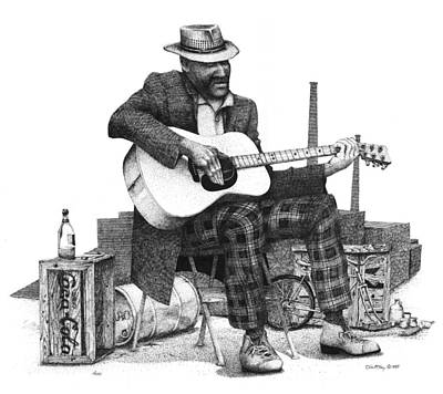Guitar Guy 2 Art Print by Olin  McKay