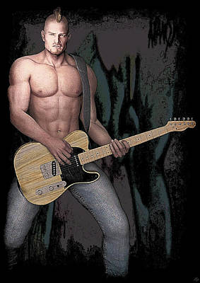 Painting - Guitar Hero by Maynard Ellis
