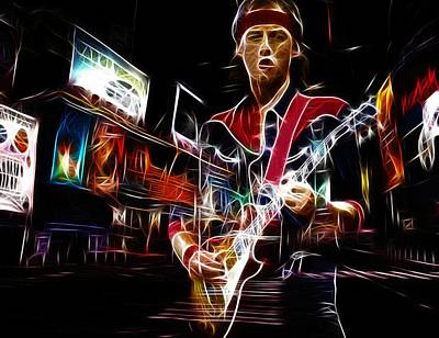 New Glasgow Painting - Guitar Hero by Steve K