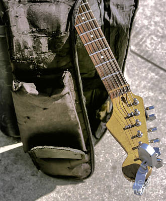 Beach Hop Photograph - Guitar II by Chuck Kuhn