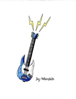 Drawing - Guitar by Jayson Halberstadt