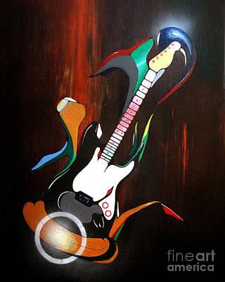 Guitar Melody Art Print by Peter Maricq