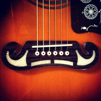 Musical Instruments Wall Art - Photograph - Guitar Mustache by Claudia Schieve